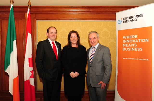Lita with EI Minister Richard Burton